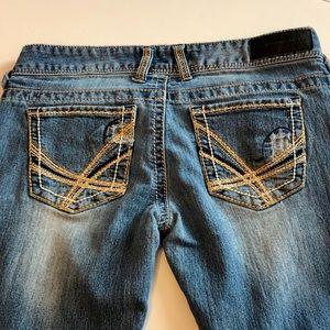Twentyone Black by Rue 21 Flare Jeans Size 3/4